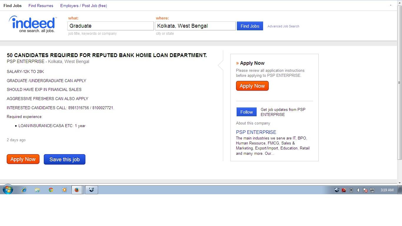 PSP Enterprise via Indeed - Fake job offer | Consumer Complaints